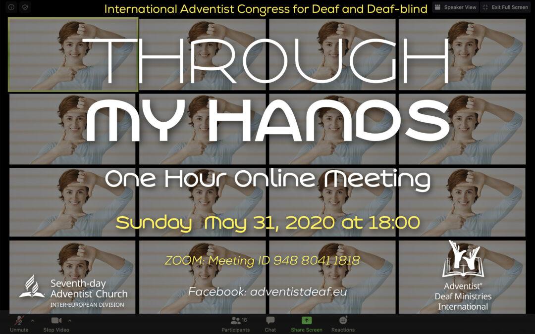 Mezinárodní setkání neslyšících a hluchoslepých lidí online